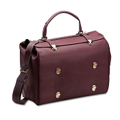 Pineider Tri-bag Leather Travel Bag