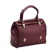 Pineider Mini Bi-bag Leather Handbag