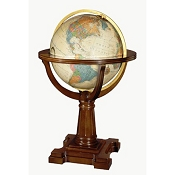 Replogle Annapolis Illuminated Floor Globe - Antique Ocean