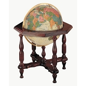 Replogle Statesman Illuminated World Floor Globe - Antique Ocean