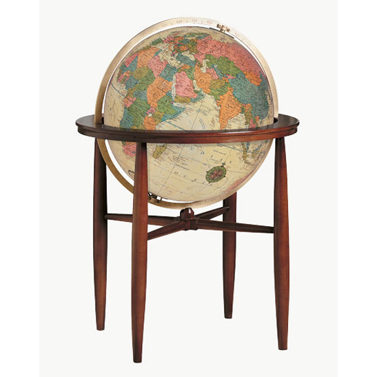 Replogle Finley Illuminated World Floor Globe - Antique Ocean