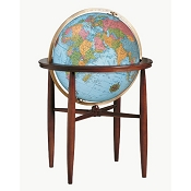 Finley Illuminated World Floor Globe - Blue Ocean
