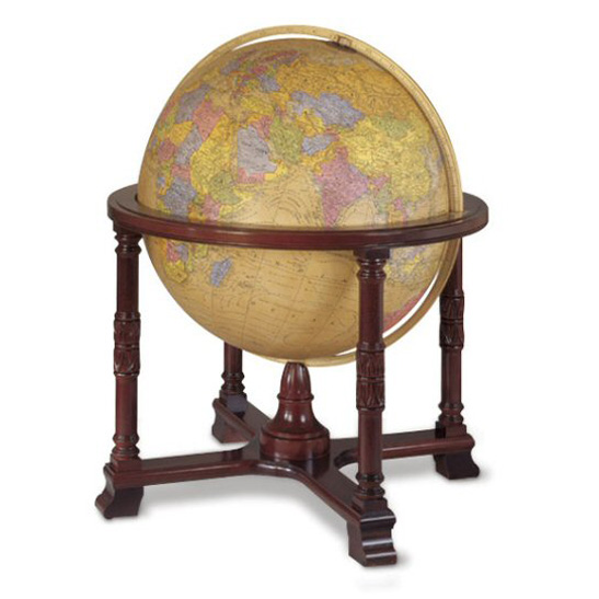 Replogle Diplomat Illuminated World Floor Globe - Antique Ocean