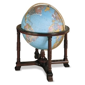 Replogle Diplomat Illuminated World Floor Globe - Blue Ocean