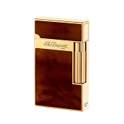 ST Dupont Ligne 2 Atelier Lighter - Brown Chinese Lacquer - Gold