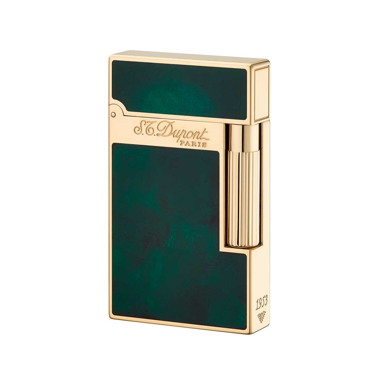 St Dupont Ligne 2 Atelier Lighter Emerald Green Chinese