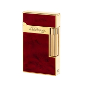 ST Dupont Ligne 2 Atelier Lighter - Cherry Red Chinese Lacquer - Gold