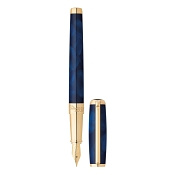 ST Dupont Atelier Line D Fountain Pen - Navy Blue - Gold