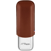 ST Dupont Double Cigar Case - Brown Leather