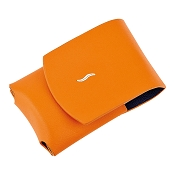 ST Dupont MiniJet Lighter Case - Orange Leather
