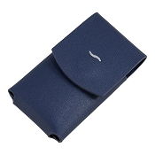 ST Dupont Slim 7 Lighter Case - Blue Leather