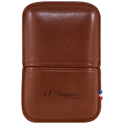 ST Dupont Ligne 2 Lighter Case - Brown Leather