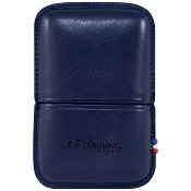 ST Dupont Ligne 2 Lighter Case - Blue Leather