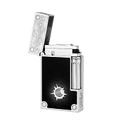 ST Dupont Conquest of the Wild West Premium Line 2 Lighter with Bullet Hole & Chain - Limited Edition