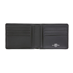 ST Dupont Defi Black Millenium 8 CC Bifold Leather Wallet