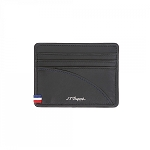 ST Dupont Defi Black Millenium Leather Credit Card Holder