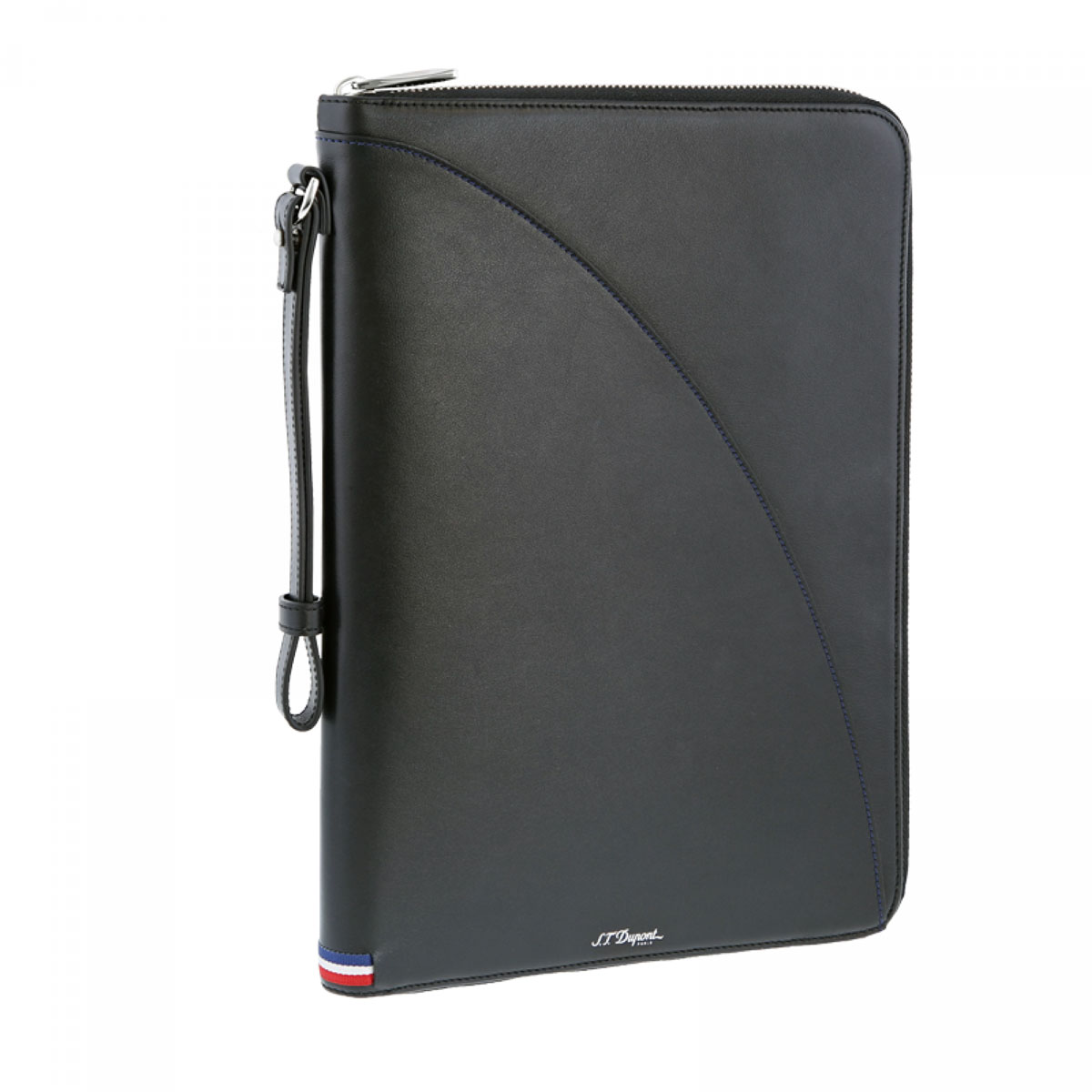 ST Dupont Defi Black Millenium Leather Clutch