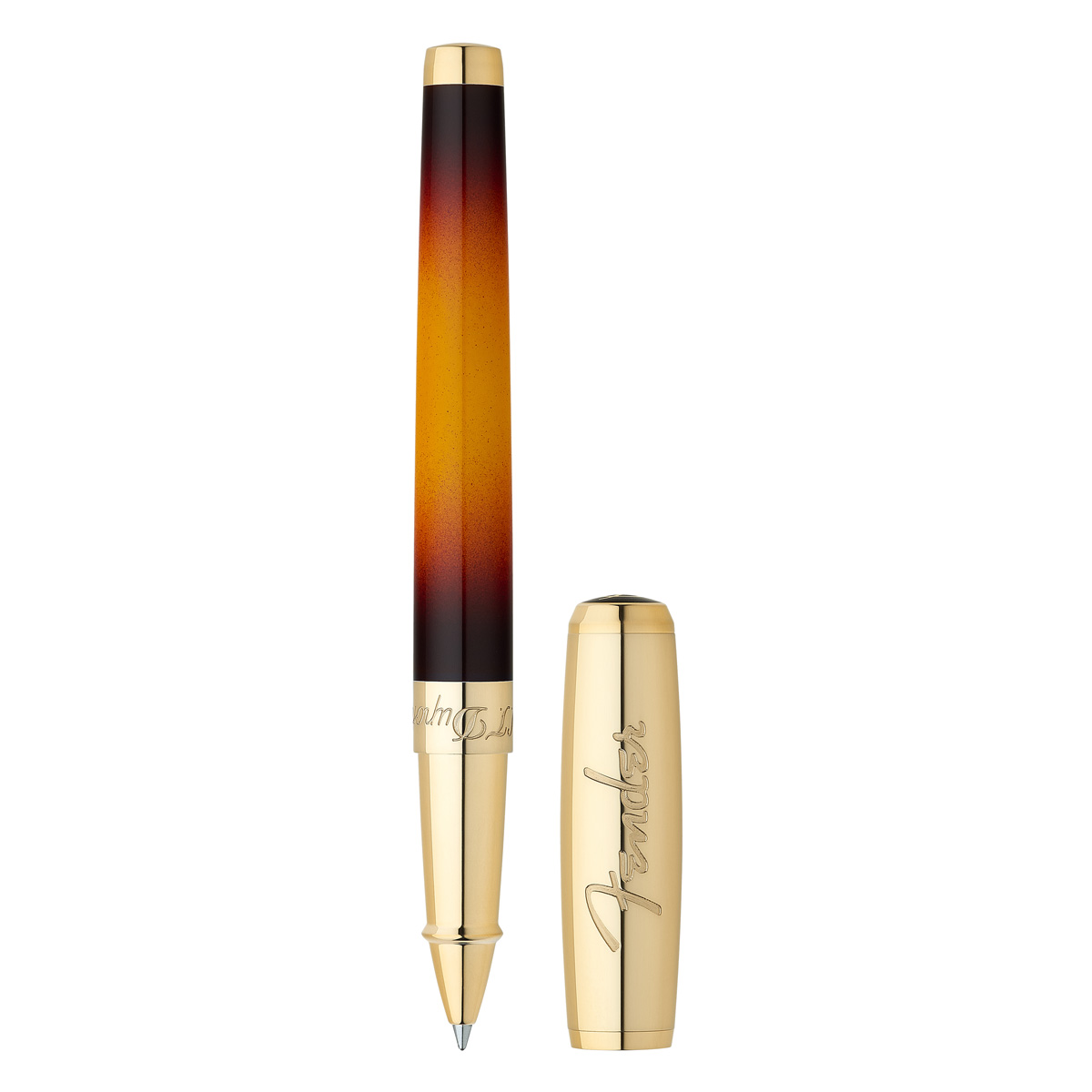 ST Dupont Fender Line 2 Rollerball Pen - Sunburst Lacquer - Gold Finish - Limited Edition