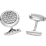 ST Dupont Fire Head Round Palladium Cufflinks