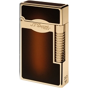 Le Grand ST Dupont Lighter - Sunburst Brown - Yellow Gold