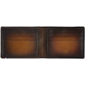 ST Dupont Atelier 6 Credit Card Leather Billfold Wallet - Tobacco Brown