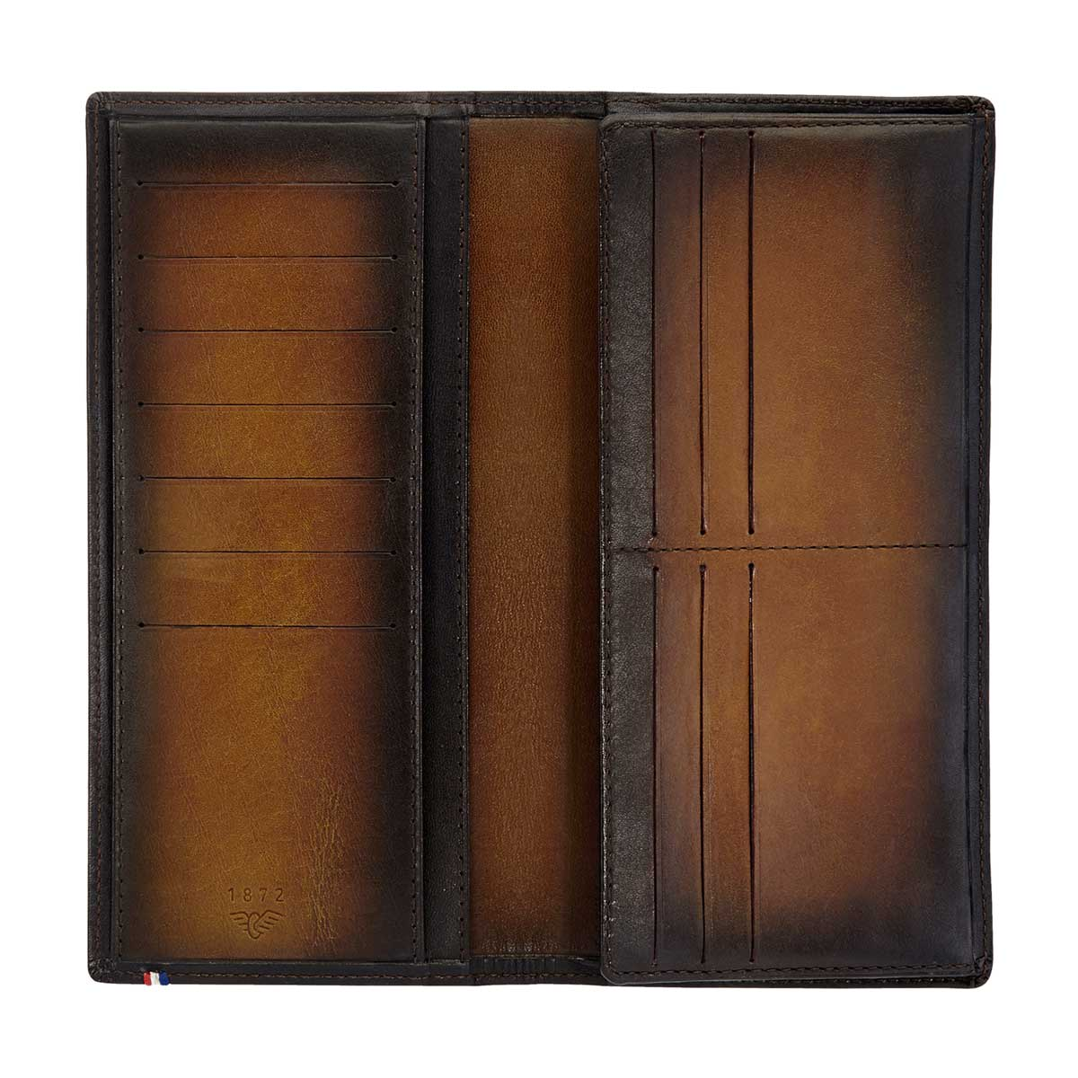 ST Dupont Atelier Long Leather Wallet - Tobacco Brown