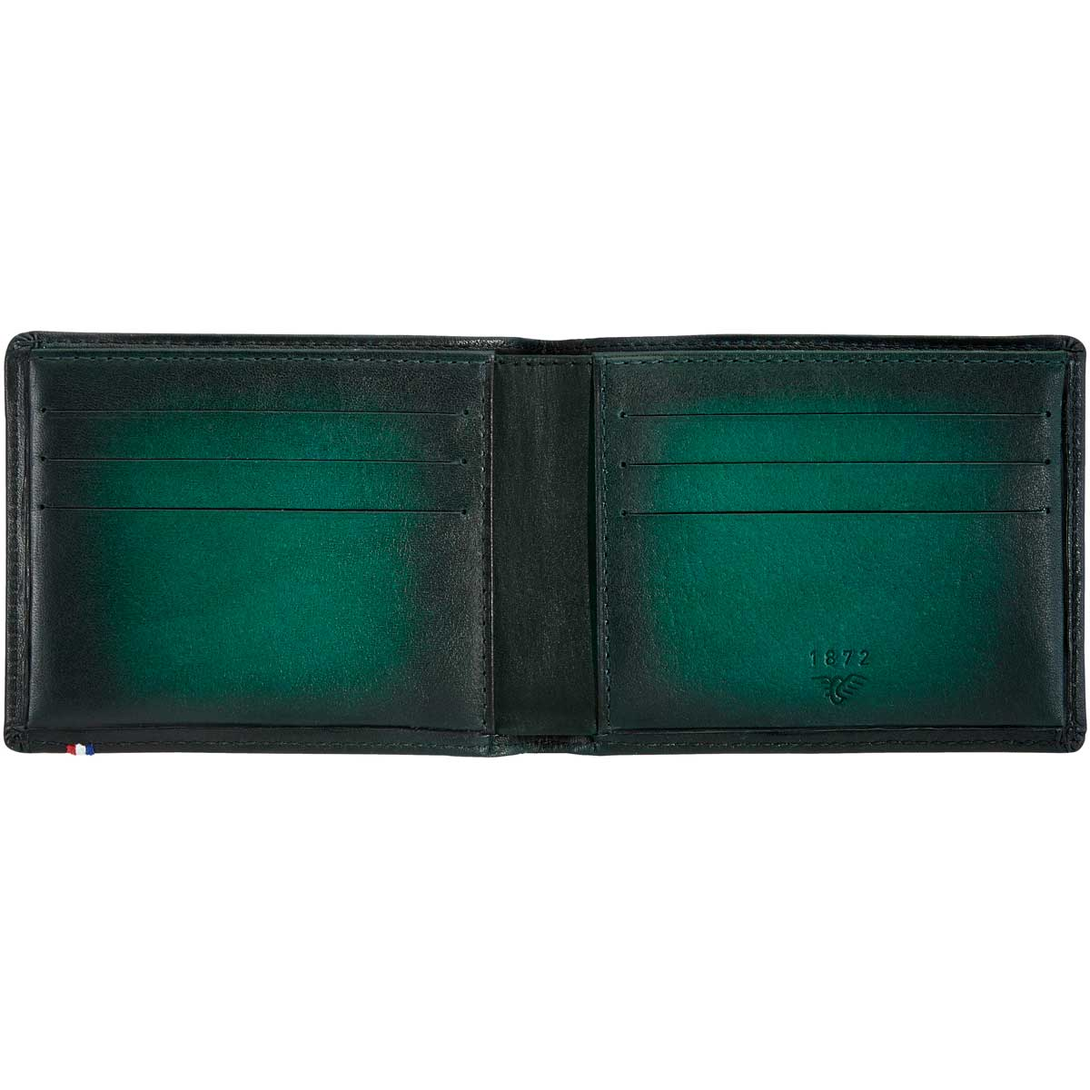 2791dd435115 St Dupont Atelier 6 Credit Card Leather Billfold Wallet Emerald Green