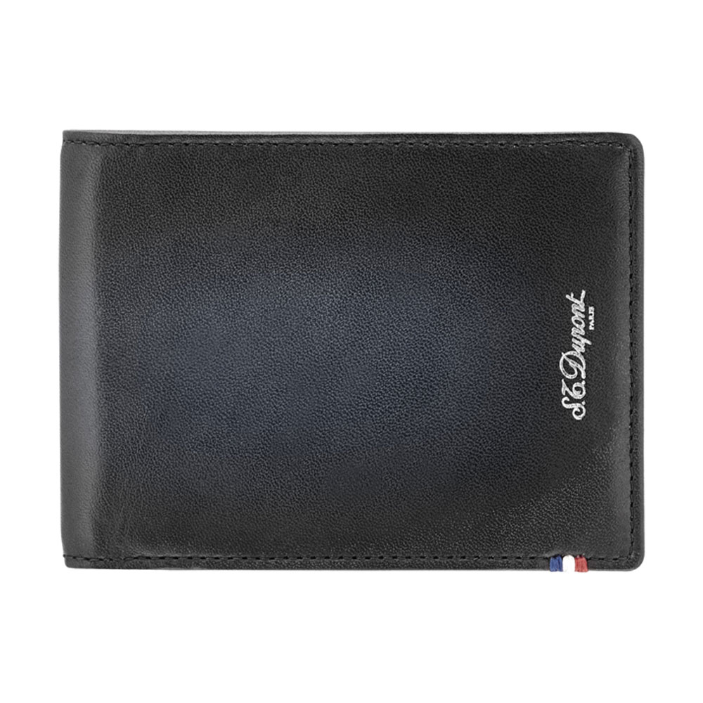ST Dupont Atelier 6 Credit Card Leather Billfold Wallet - Black