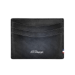 ST Dupont Atelier Leather Credit Card Holder Wallet - Black