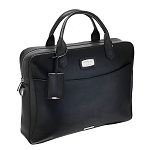 ST Dupont Atelier Black Leather Laptop Bag & Document Holder