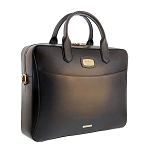 ST Dupont Atelier Bronze Leather Laptop Bag & Document Holder