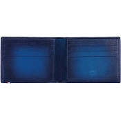 ST Dupont Atelier 6 Credit Card Leather Billfold Wallet - Midnight Blue