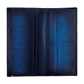 ST Dupont Atelier Long Leather Wallet - Midnight Blue