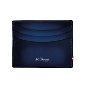 ST Dupont Atelier Leather Credit Card Holder Wallet - Midnight Blue
