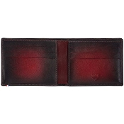 ST Dupont Atelier 6 Credit Card Leather Billfold Wallet - Cherry Red