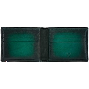 ST Dupont Atelier 6 Credit Card Leather Billfold Wallet - Emerald Green