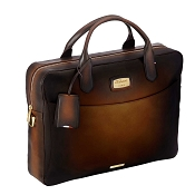 ST Dupont Atelier Tobacco Brown Leather Laptop Bag & Document Holder