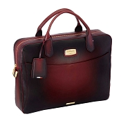 ST Dupont Atelier Cherry Red Leather Laptop Bag & Document Holder