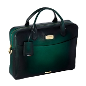 ST Dupont Atelier Emerald Green Leather Laptop Bag & Document Holder