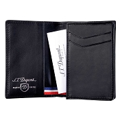 ST Dupont Defi Black Carbon Leather Business Card Holder Wallet