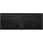 ST Dupont Fire Head 6 Credit Card Leather RFID Wallet - Black