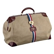 ST Dupont Iconic Bogie Biege Canvas Duffle Travel Bag