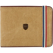 ST Dupont Iconic 6 CC Billfold Men's Wallet - Beige Canvas / Cognac Leather
