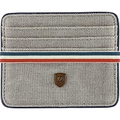 ST Dupont Iconic Multi Credit Card Wallet - Gray Canvas / Blue Leather