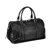 ST Dupont Line D Soft Diamond Leather Expandable Duffle Weekend Bag