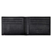 ST Dupont Soft Diamond Grained Black Leather Men's RFID Bifold Wallet - 6 Credit Card