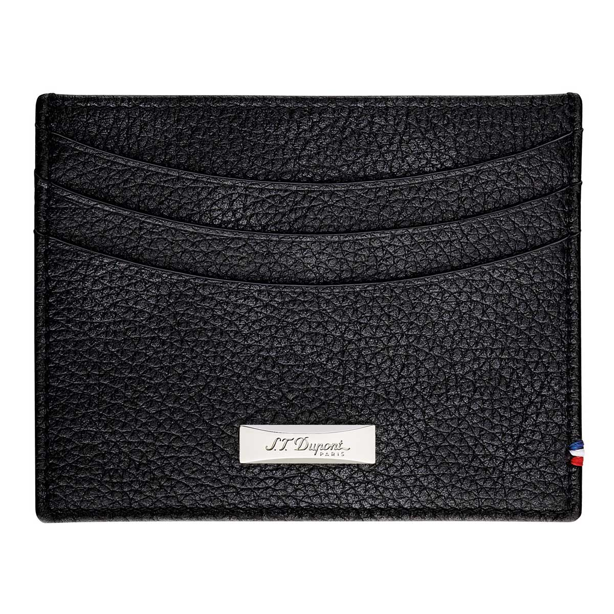 87f15f7679 ST Dupont Soft Diamond Grained Black Leather Men's RFID Credit Card Holder  Wallet