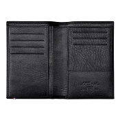 ST Dupont Soft Diamond Grained Black Leather Men's Short Vertical RFID Wallet