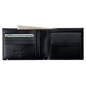 ST Dupont Line D 4 Credit Card Black Leather ID Wallet with Coin Purse