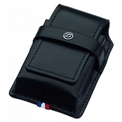 ST Dupont Line D Ligne 2 Leather Lighter Case - Black